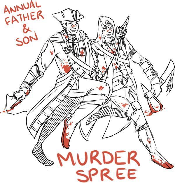 Annual Father-Son Murder Spree by Kiaraz on DeviantArt