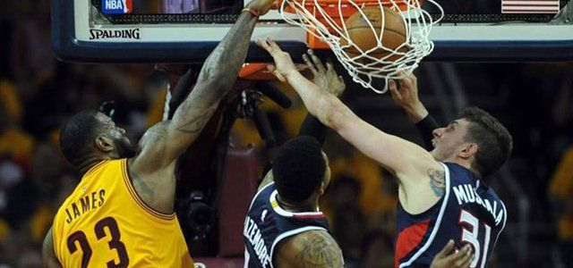 NBA - basket - Cleveland Cavaliers - Atlanta Hawks - LeBron James - Jeff Teague - Al Horford - Matthew Dellavedova - J.R.Smith