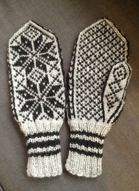 Selbu mittens for dad, in PeerGynt yarn by TanteUll, via Flickr