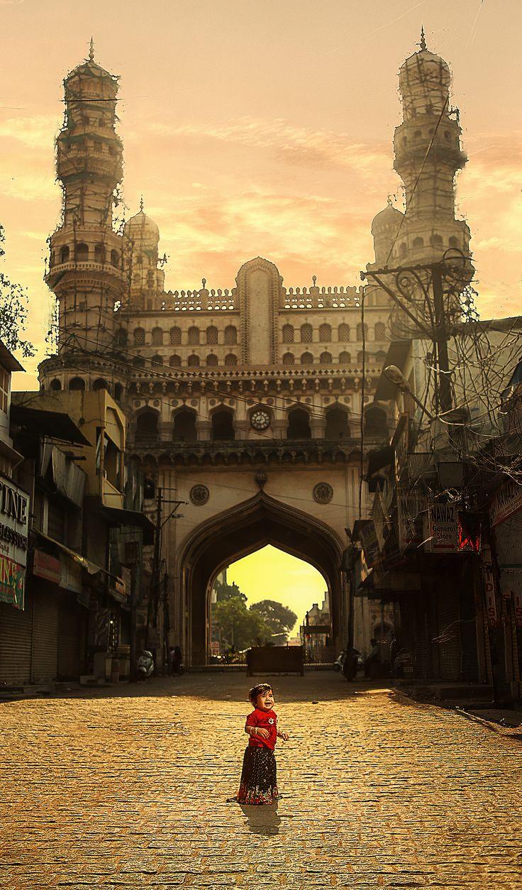 Under Char-Minar, Hyderabad, India