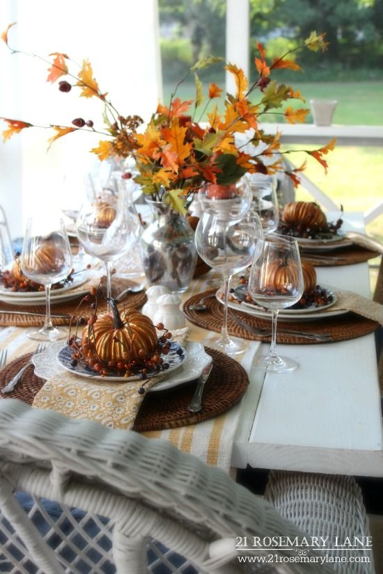 264 best thanksgiving table in fall colors images on for Table 52 thanksgiving