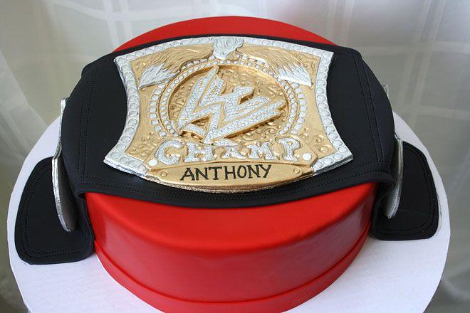 Wrestling Belt Cake by CakeSuite, Westport CT