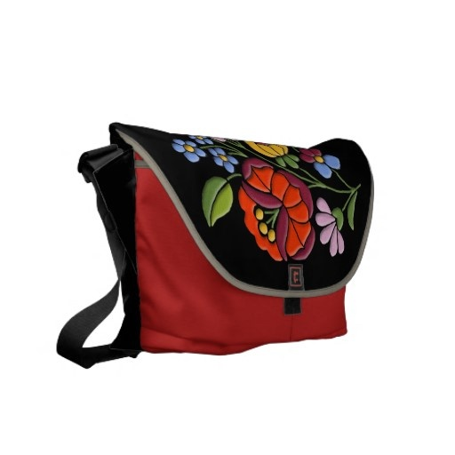 Authentic embroidery design from Hungary on Rickshaw Medium Zero Messenger Bag $111.15 #fashion #embroidery #Hungary