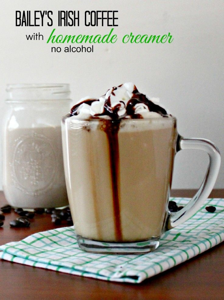 Bailey's Irish Cream Non Alcoholic Irish Coffee Creamer. One of my favorite gluten free recipes and a great treat for breakfast.