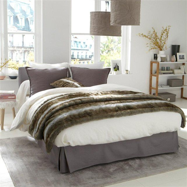 jet de lit fa on fourrure la redoute int rieurs v ritable d claration d 39 amour une nature. Black Bedroom Furniture Sets. Home Design Ideas