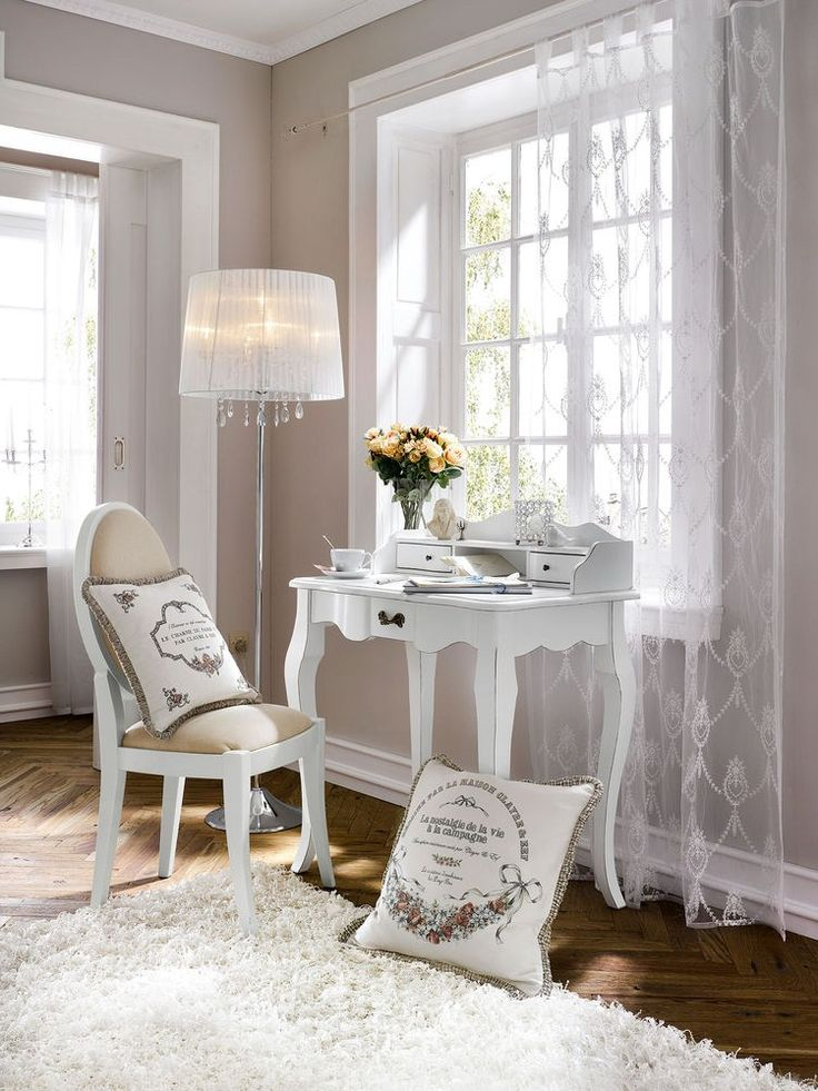 les 25 meilleures id es de la cat gorie bureau shabby chic sur pinterest fausses fleurs. Black Bedroom Furniture Sets. Home Design Ideas