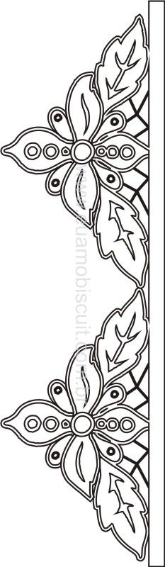 Beautiful little cutwork edging pattern. This could make a great accent to a quilt.