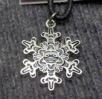 Snowflake Totem Necklace by Andy Everson #065z