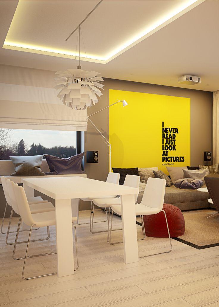 Living room design in Chorzow, POLAND - archi group. Salon w Chorzowie.