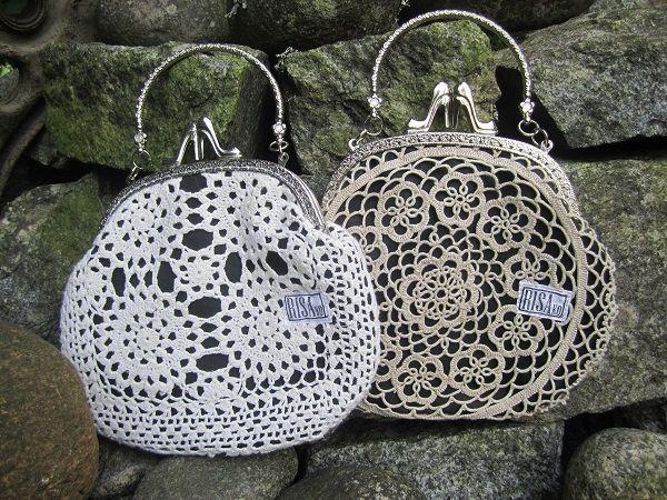 Unique handbags made of lace. Risako. Ask for availability. Kysy saatavuutta Risakolta.