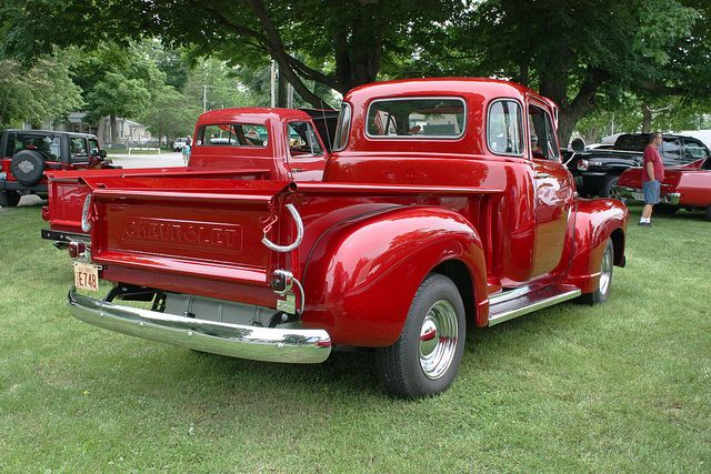 Vintage good old fashioned real metal Chevrolet trucks