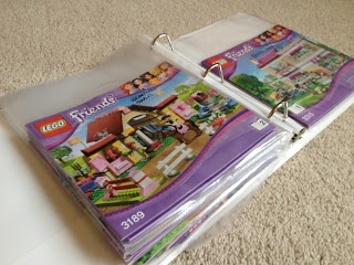 Binder Organization...for LEGO; don't quite need this yet but keeping this idea for future
