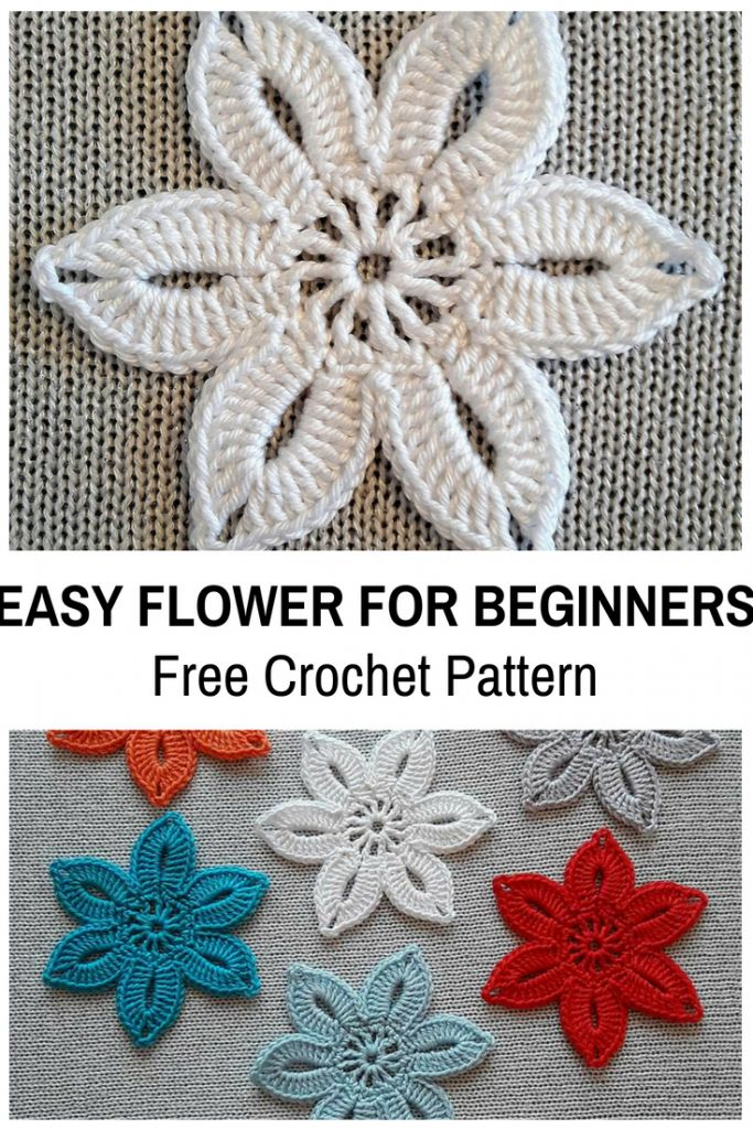 This Easy Crochet Flower For Beginners Is So Cute! [Free Pattern]