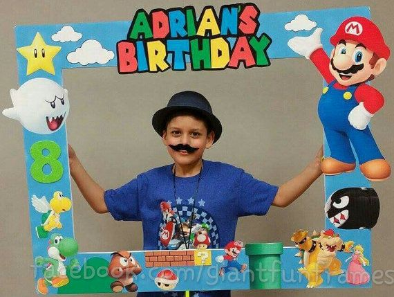 Super Mario Frame / Photo Props / Photo Booth Digital File