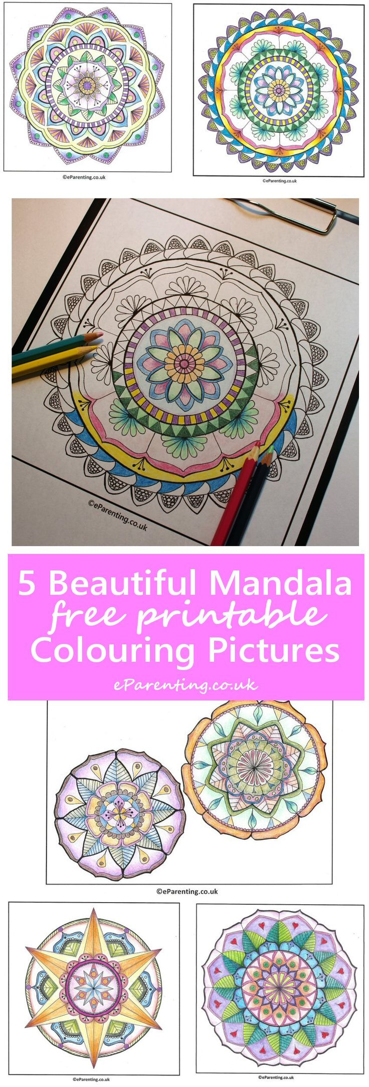 Free printable coloring pages uk - 5 Beautiful Mandala Colouring Pictures Free Printable Adult Colouring Pictures