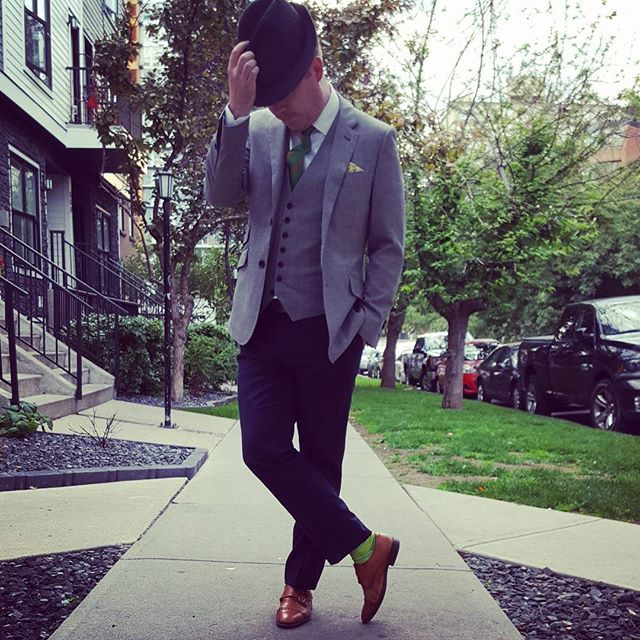 #tbt looking dapper last summer with our Green Style Box items! www.takeoutstyle.com #yourstyleawaits #whichcolourareyou #yycfashion #mensaccessories #yyc #mensfashion #funkysocks #ties #suitandtie #canadafashion #style #tiesandsocks #officewear #socks #pocketsquare #montrealstyle #torontostyle #vancouverfashion #ottawa #mensstyle