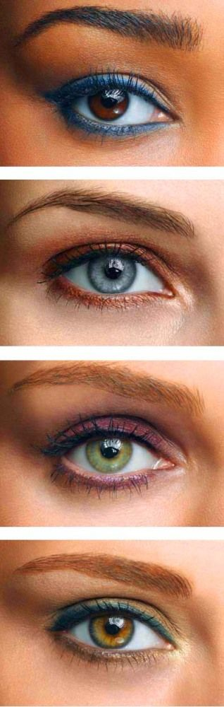 Colored Eyeliner coordinating it with eye color