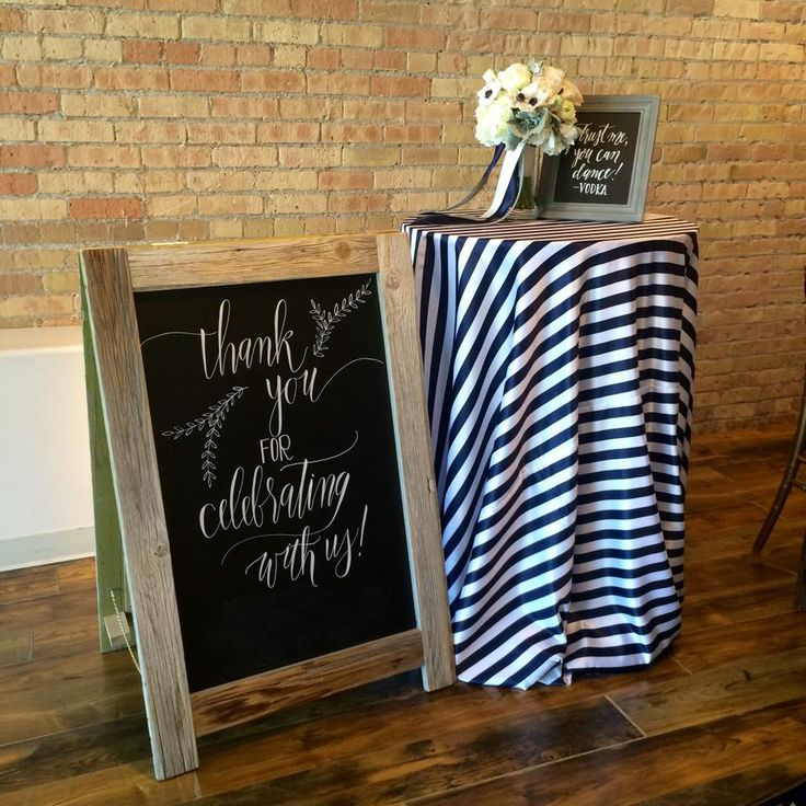 Love how romantic the Navy Stripe can look on a high cocktail table. Such a gorgeous statement!