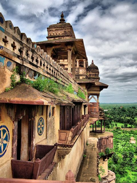 orchha. I was attacked by a monkey in this palace.