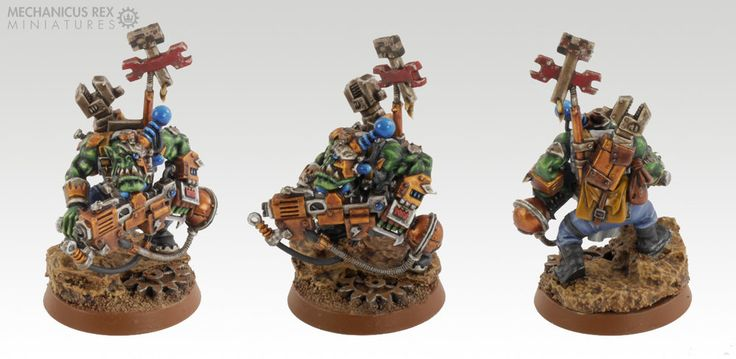 Mekboy Gear'ead Gazlugg Mek Burna Ork Blood Axe Clan Warhammer 40K