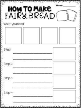 How to make fairy bread procedure writing... by Little Miss Kindy    Teachers Pay Teachers