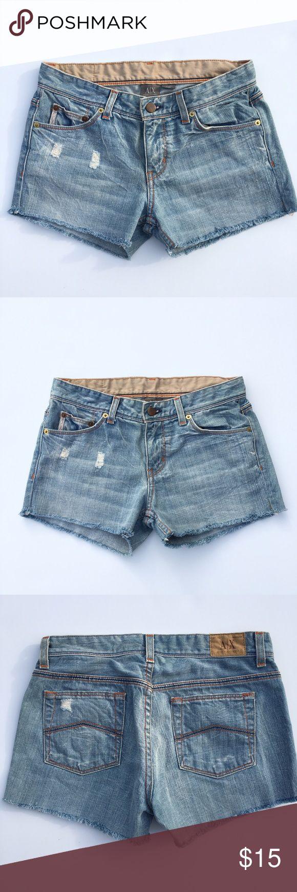 Armani Exchange denim cut off shorts Armani Exchange denim cut off shorts, in great condition! A/X Armani Exchange Shorts Jean Shorts
