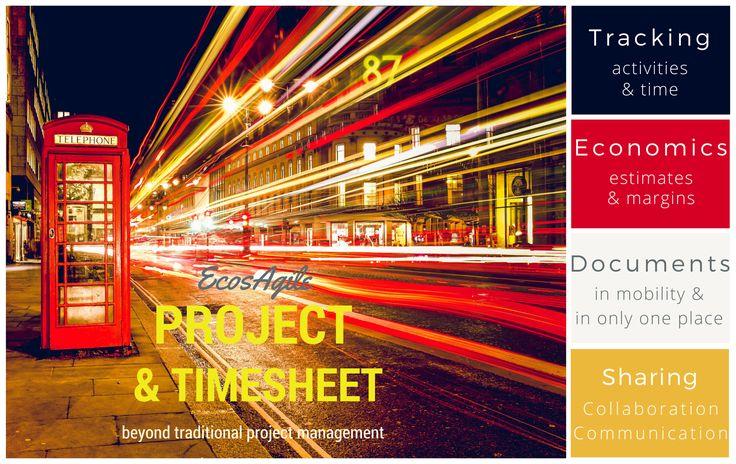 EcosAgile Project & Timesheet è essenziale per le società di servizi che lavorano a progetti, siano esse di consulenza, associazioni o studi professionali che vogliono monitorare e gestire i costi relativi ai progetti, ma soprattutto sviluppare il know how e accrescere le performance aziendali.