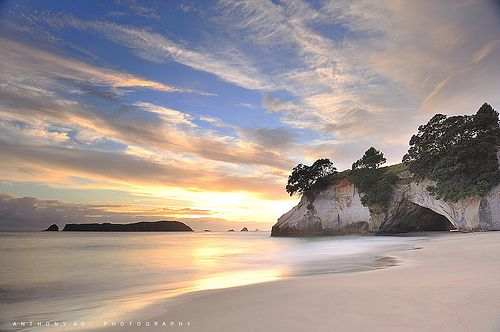 Can we all say Narnia?   Cathedral Cove, New Zealand.