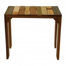 for our patio: table of recycled wood | Loods5