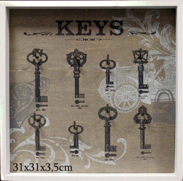 Vešiak  na kľúče 8 háčikov