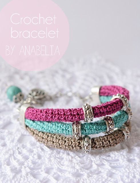 Crochet bracelet by Anabelia - lovely, but no tutorial, just the picture