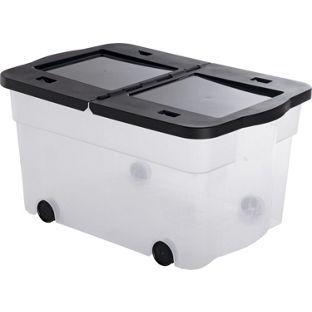45 Litre Lidded Wheeled Plastic Storage Box. From Homebase.co.uk