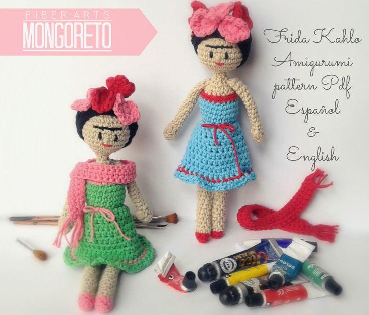Frida Kahlo amigurumi pattern by Mongoreto on Etsy