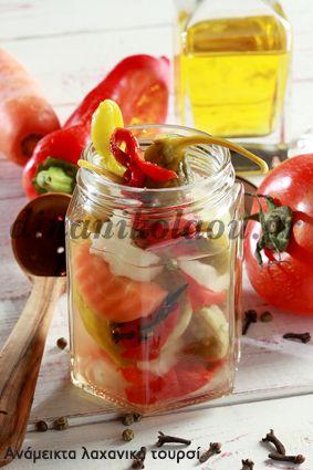 Λαχανικά στο βάζο για τον χειμώνα