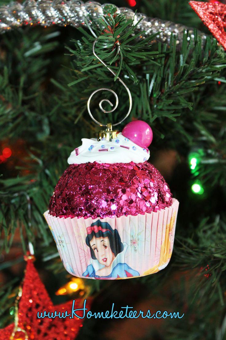 Disney Princess Cupcake Christmas Ornament - How To
