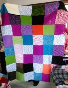 Blanket with lots of squares