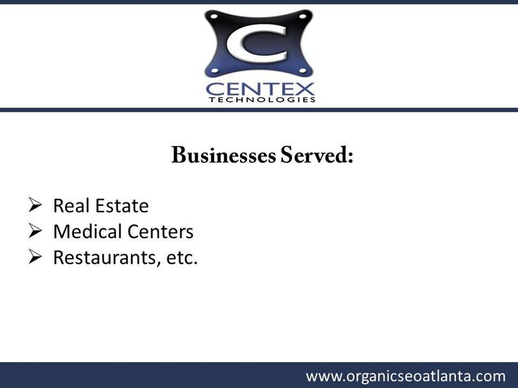 Improve your website ranking on major search engines with Centex Technologies. The Atlanta, GA, based SEO company uses white-hat techniques to ensure your business gets higher rankings. The firm serves businesses including medical centers, real estate, law firms, etc. To know more about the SEO services provided by the company in Atlanta, visit  : http://www.orgaincseoatlanta.com