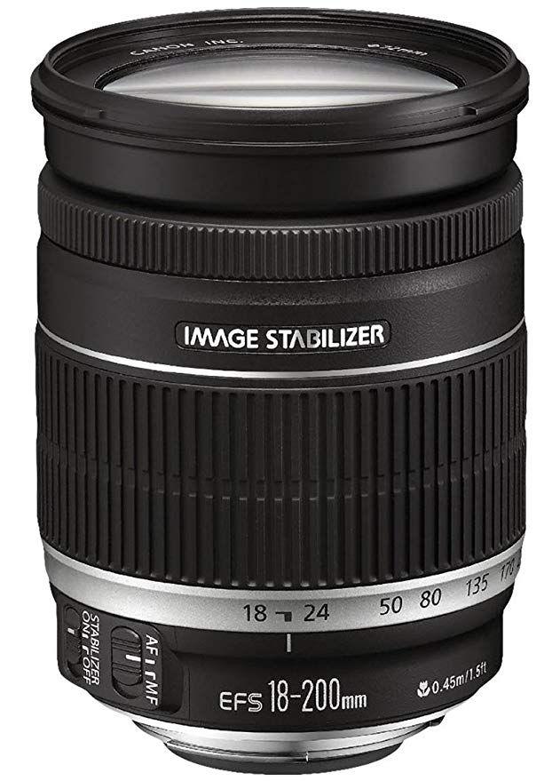 Canon Objektiv Ef S 18 200mm F3 5 5 6 Is Zoomobjektiv Lens Fur Eos 72mm Filtergewinde Bildstabilis Digital Camera Lens Slr Lens Digital Camera