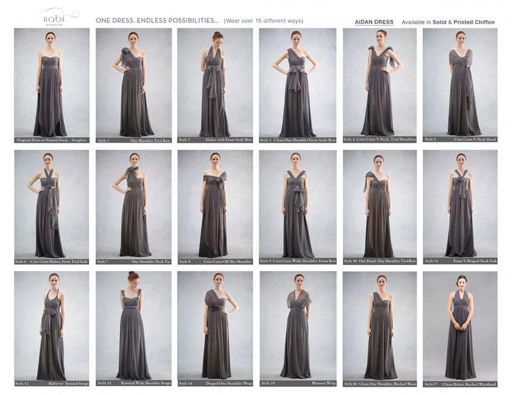 Different ways to wear Jenny Yoo convertible dress ...