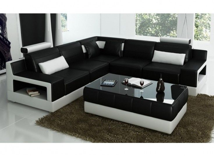 Avery L Leather Sofa Lounge Set Corner Sectional Sofa