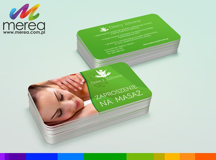 Projekt graficzny oraz druk kart rabatowych www.merea.com.pl