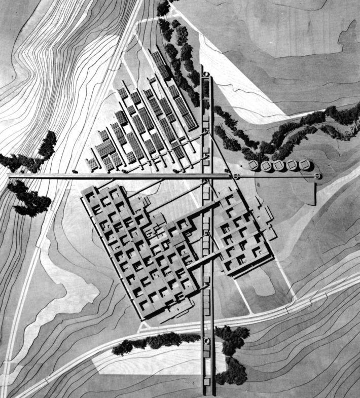 Mario Botta, Project for a Master Plan of the New Lausanne Polytechnic, Lausanne, Switzerland, 1970