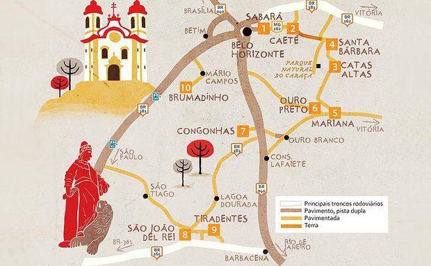 Guia Rodoviário de Cidades Históricas de Minas Gerais