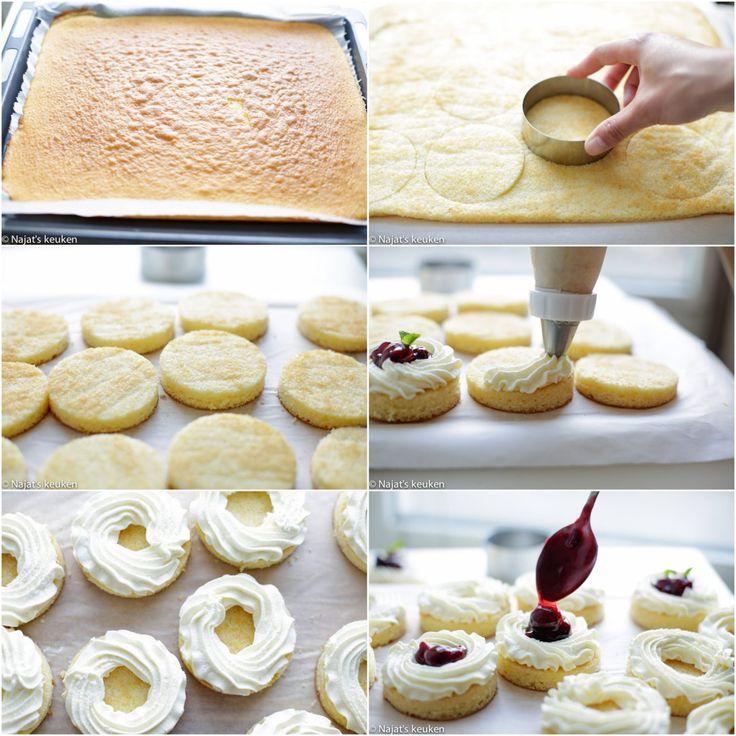 Als je een zwak hebt voor leuke, kleine en mooie mini cakes dan is dit iets voor jou. De cake is lekker licht en dat geldt ook voor de heerlijke topping van room. Samen met de zoetzure…