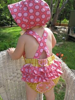 little betty sews: Ruffle Sunsuit - Free pattern and tutorial!!  - with instruction on how to alter the pattern