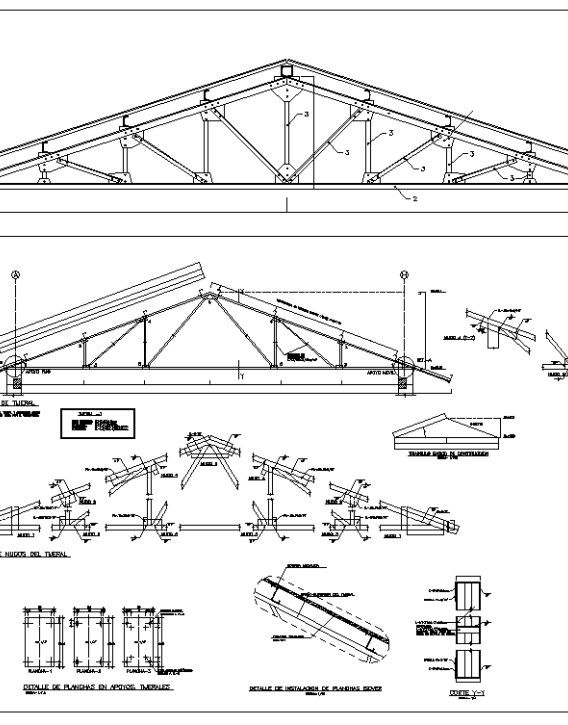 Truss Structure Details 7 Free Autocad Blocks Drawings Download Center Truss Structure Roof Truss Design Steel Trusses