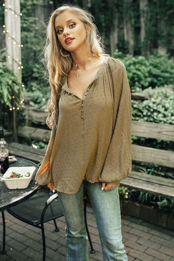 2d1faae62f Chardonnay and Sway Shift Top in Sage- 42 Sip Chardonnay all day in the  adorable top! This boho chic shift top will take you effortlessly from day  to night!