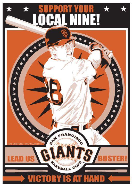 Buster Posey San Francisco Giants Baseball by SportsPropaganda