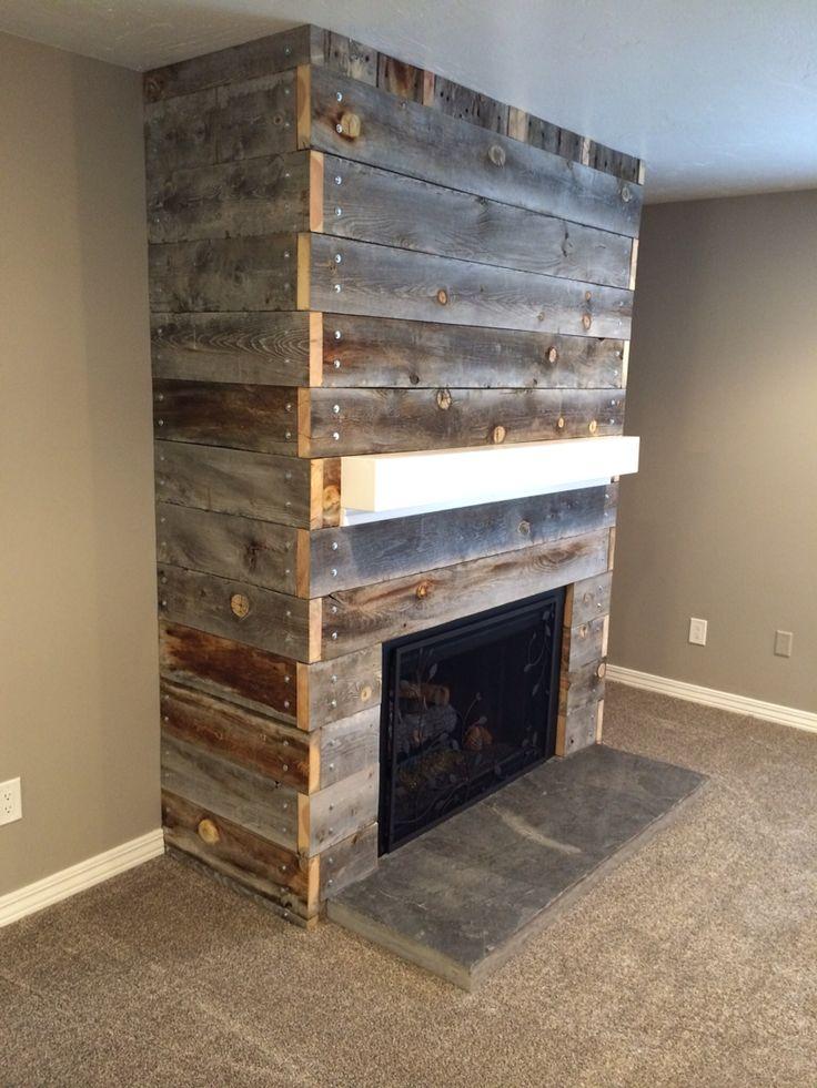 Wood Fireplace barnwood fireplace : Barnwood Fireplace – Fireplace Ideas Gallery Blog