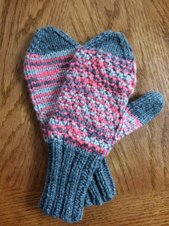 Childs Multi color mittens by Giftsmadebygram on Etsy